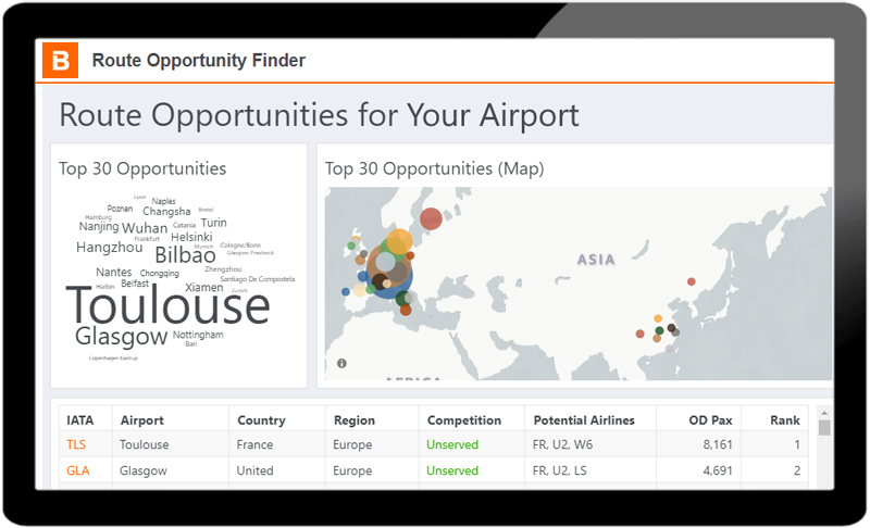 Discover new route opportunities for your airport