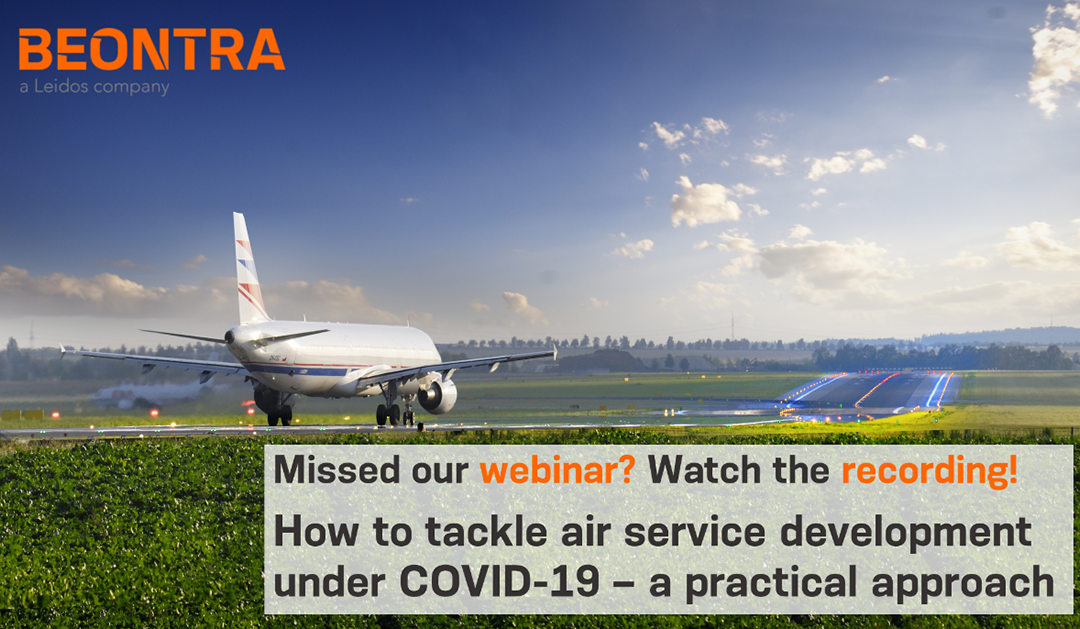 Watch our webinar recording: How to tackle air service development under COVID-19 – a practical approach